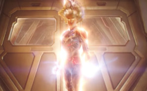 Carol Danvers AKA Captain Marvel in una scena del film